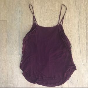 Anthropologie Tops - Sparkly Purple Babakul Tank Top
